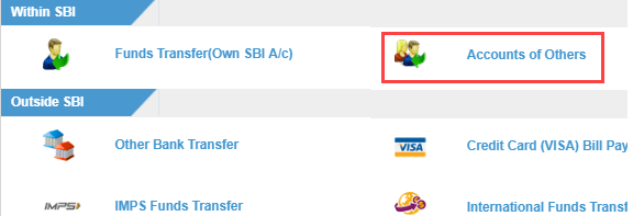 Intra Bank transfer
