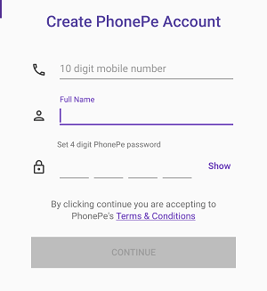 Phonepe register