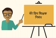 My Favorite Teacher essay in Hindi