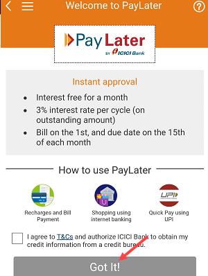 ICICI PayLater kya hai